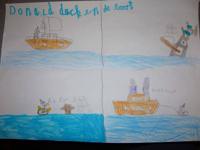 donald_duck_en_de_boot_strip_van_daan_rens_david_en_sjoerd