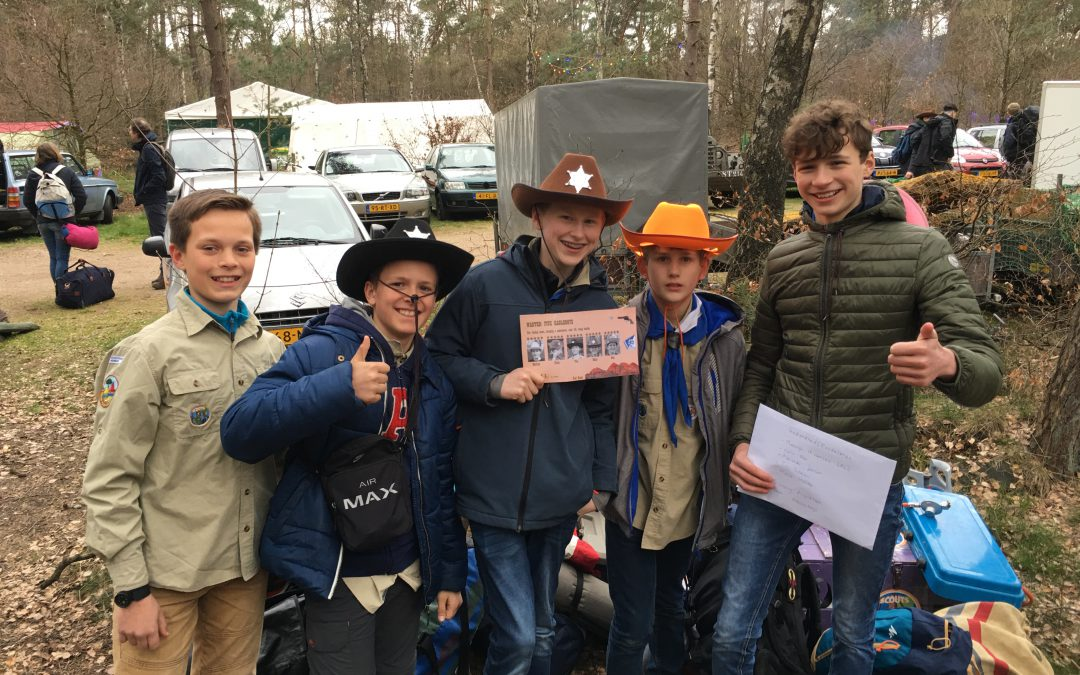 Derde plek Regionale Scoutingwedstrijden