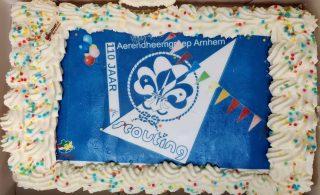 Feest! Scouting Aerendheem bestaat vandaag 110 jaar!🥳  Dit mooie jubileum hebben we samen met alle speltakken (coronaproof) gevierd!  Lees ook het hele artikel op onze website.